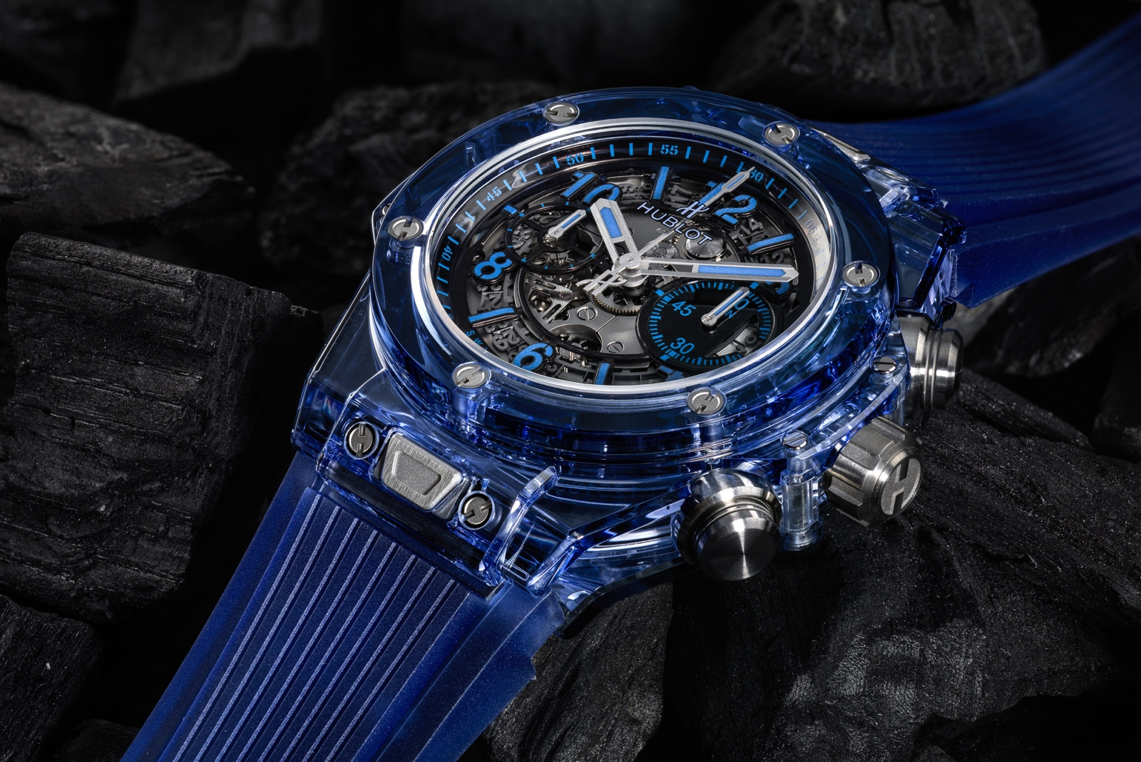 Hublot en Baselworld 2017 - Big Bang Unico Sapphire - blue