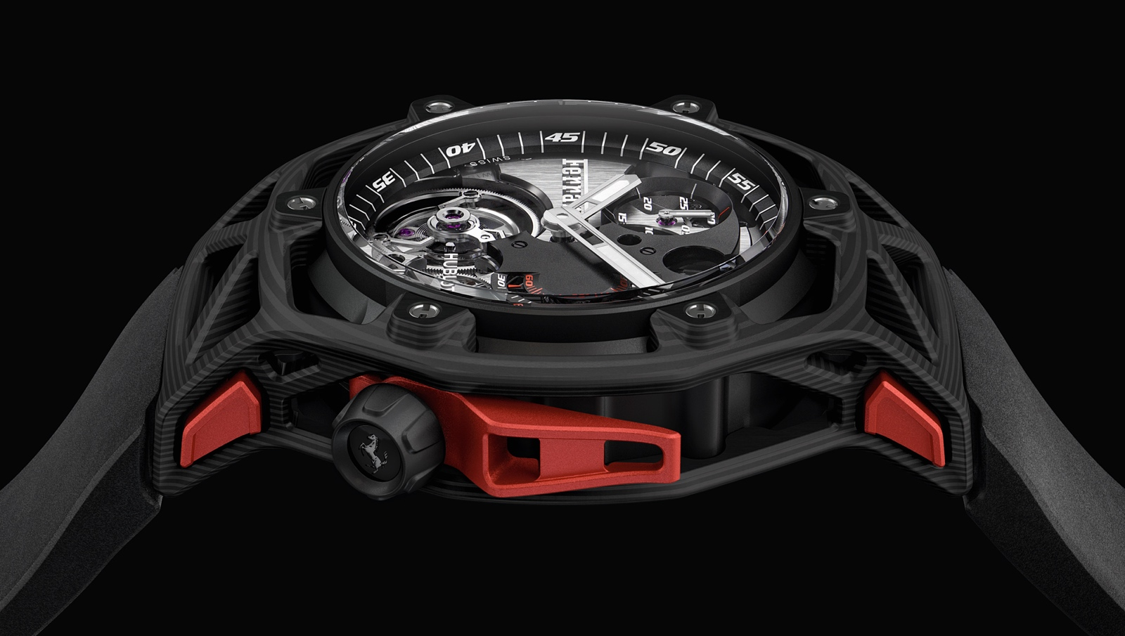 Hublot en Baselworld 2017 - Techframe Ferrari 70 years Tourbillon Chronograph - carbon