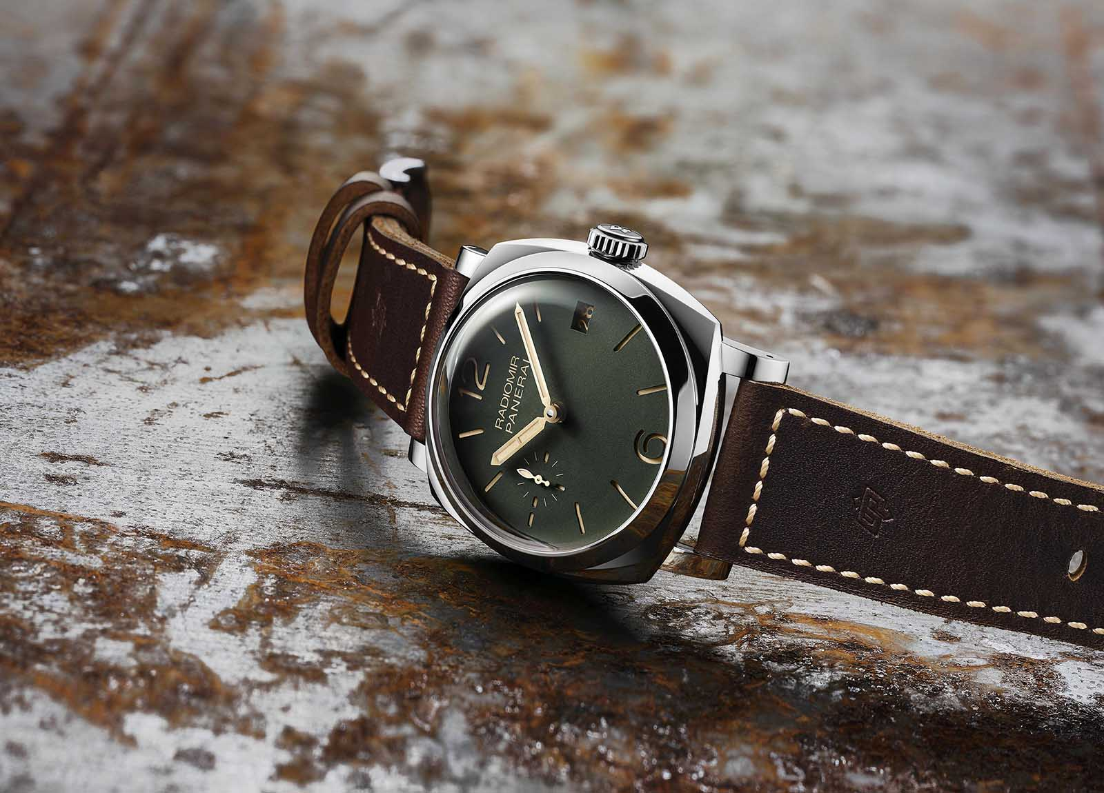 Radiomir 1940 3 Days Acciaio Green Dial- 47 mm - PAM736