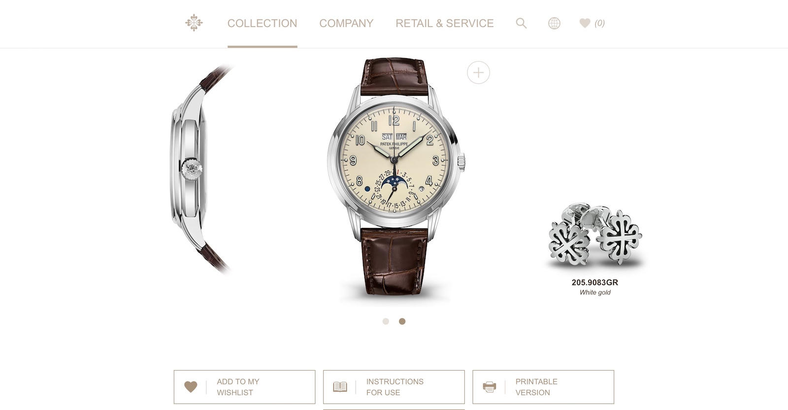 Nueva web de Patek Philippe - watch detail