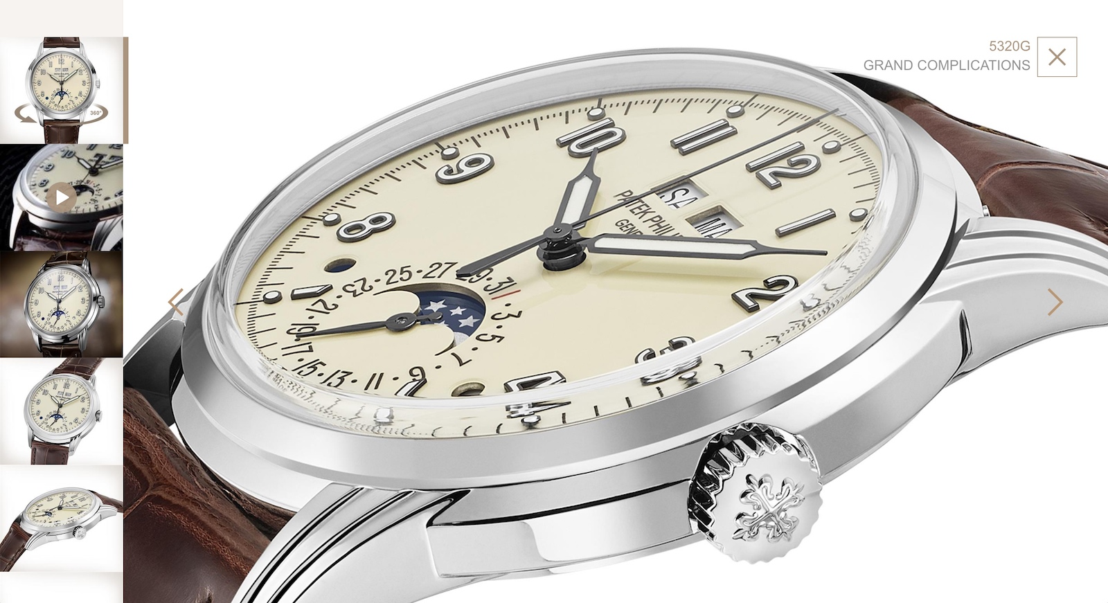 Nueva web de Patek Philippe - watch images zoom