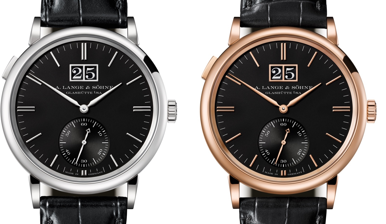A. Lange & Sohne Saxonia Outsized Date SIHH 2018