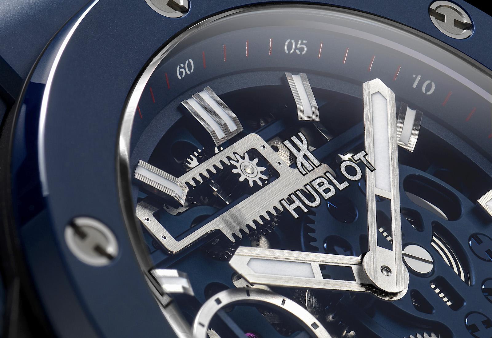Hublot Big Bang Meca-10 Blue Ceramic - dial