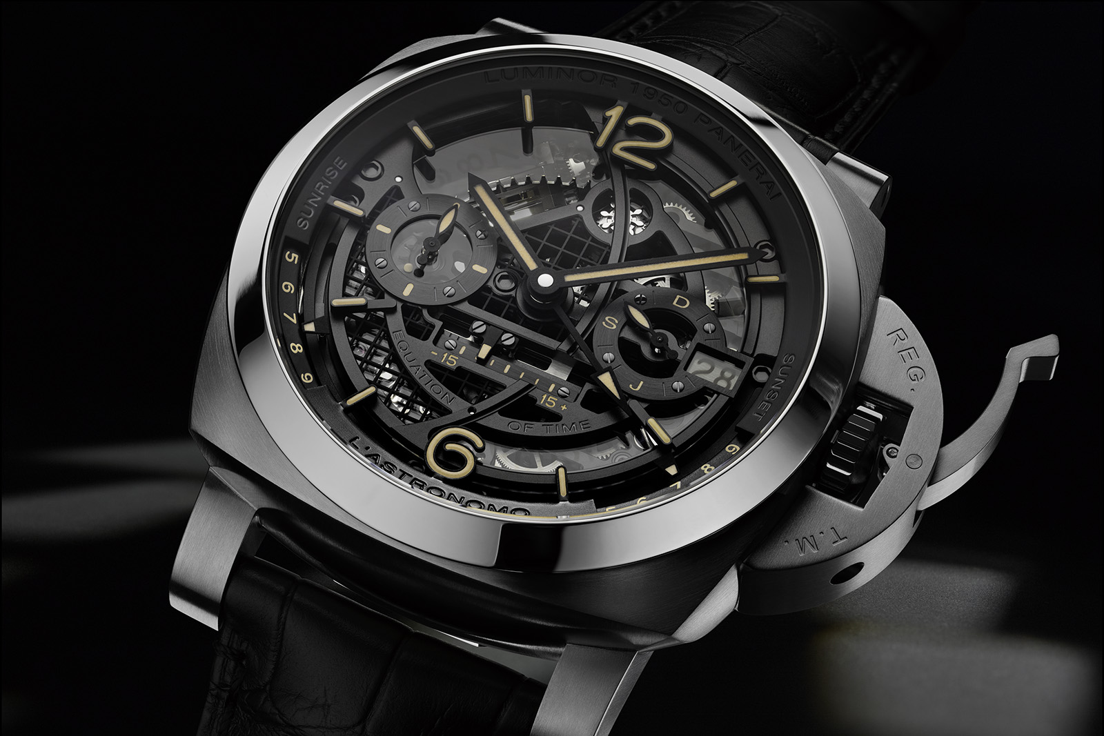 Panerai L'Astronomo – Luminor 1950 Tourbillon Moon Phases Equation of Time GMT - PAM 920
