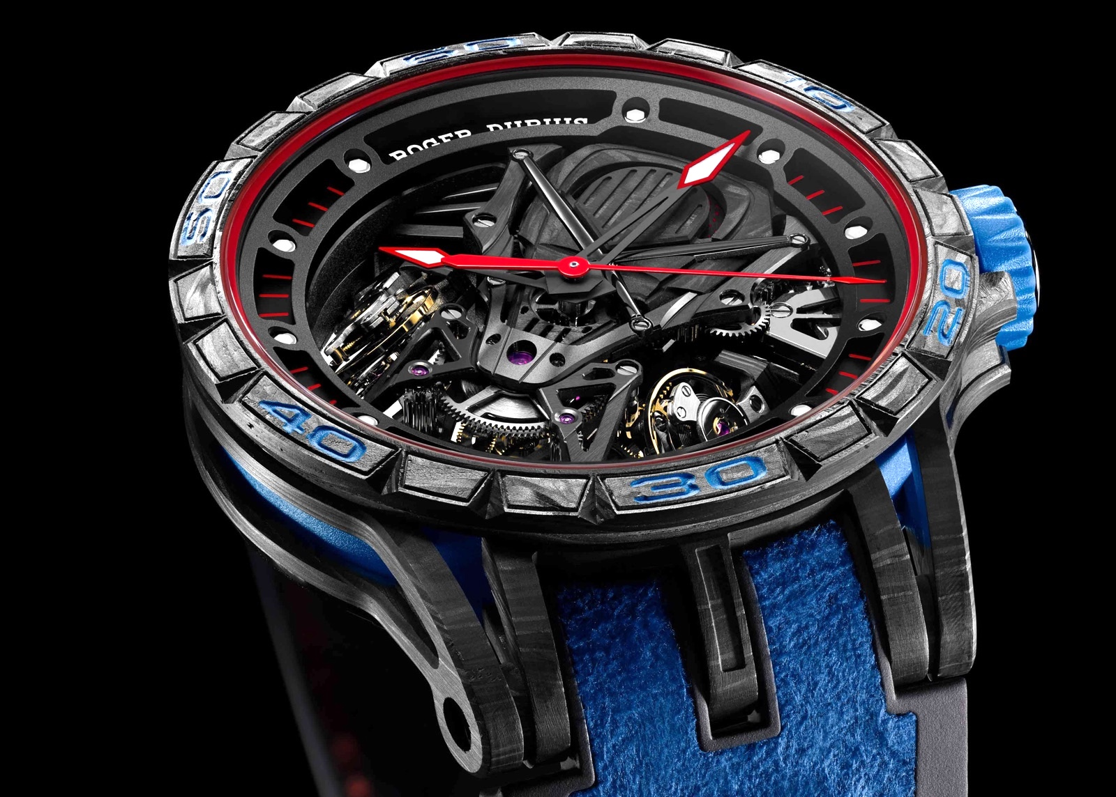 Roger Dubuis Excalibur Aventador S Blue SIHH 2018