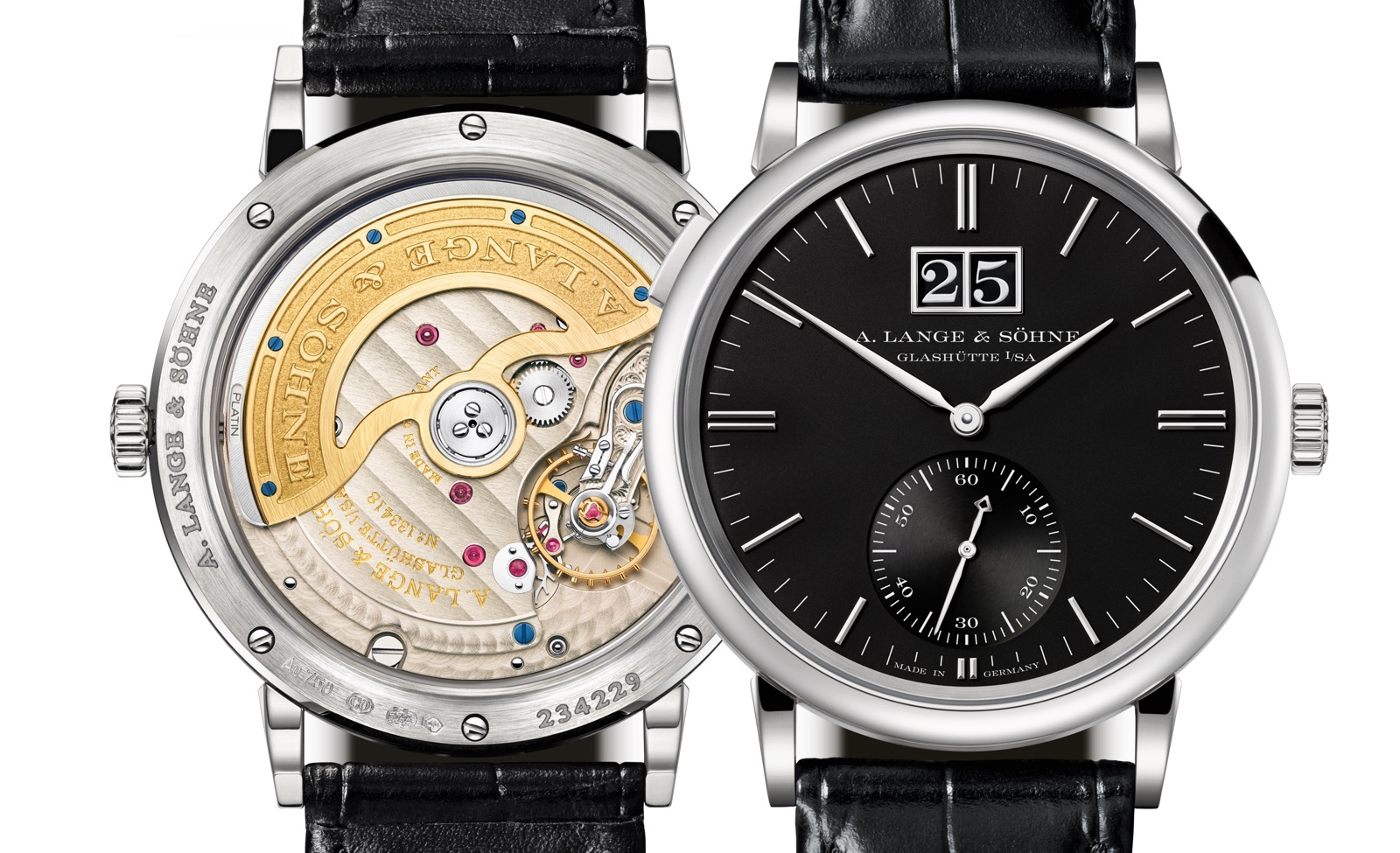 A. Lange & Sohne Saxonia Outsize Date White Gold