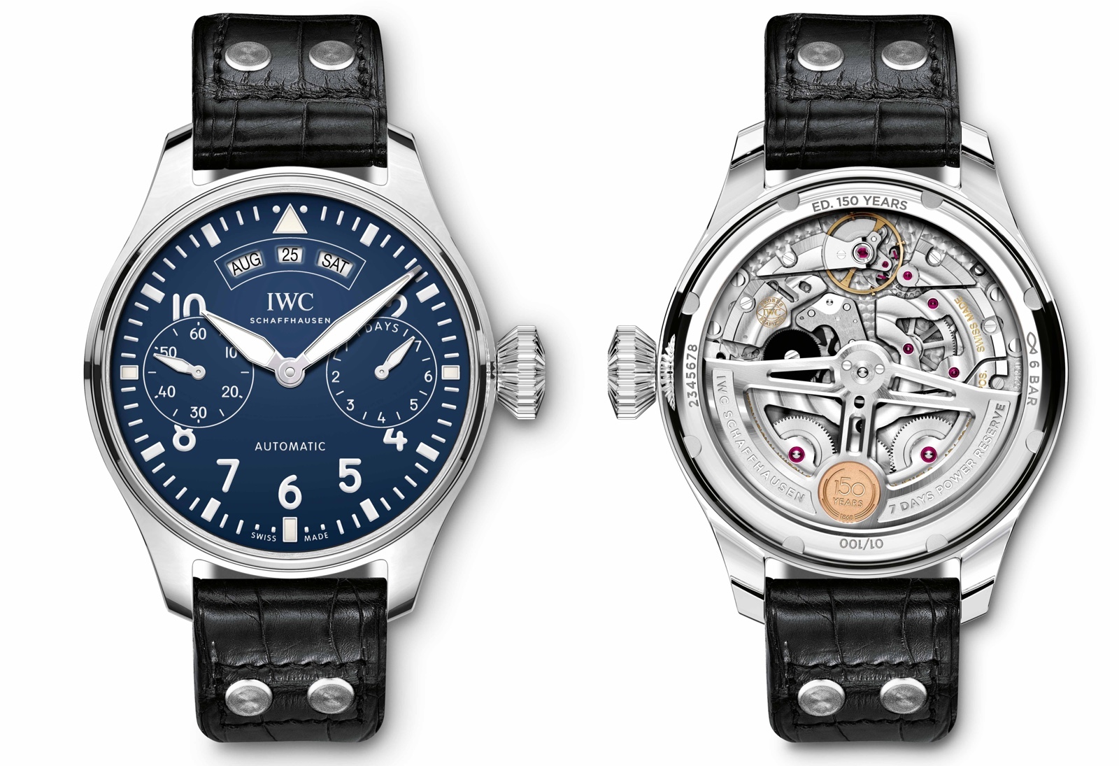 IWC Gran Reloj de Aviador Calendario Anual 150 Years