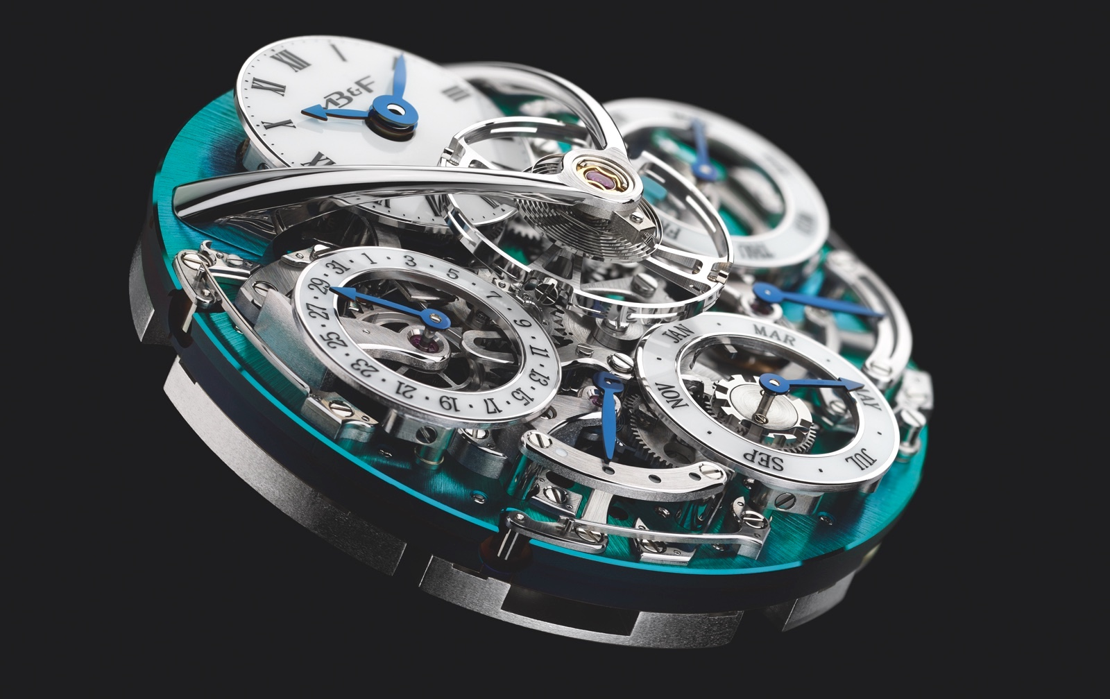 MB&F Legacy Machine Perpetual Calendar Titanium Movement
