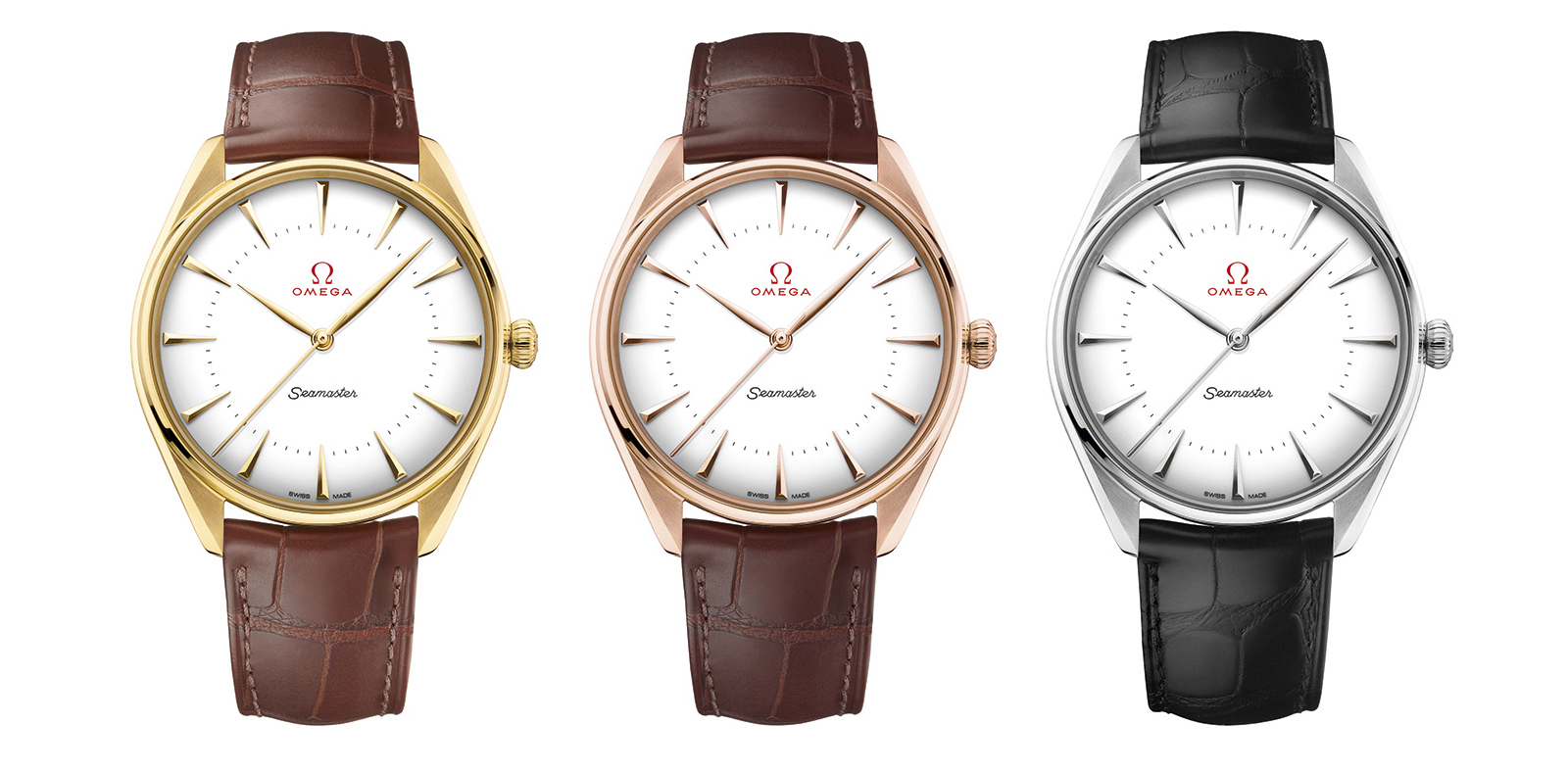 Omega Seamaster Olympic Games Gold Collection Three Models
