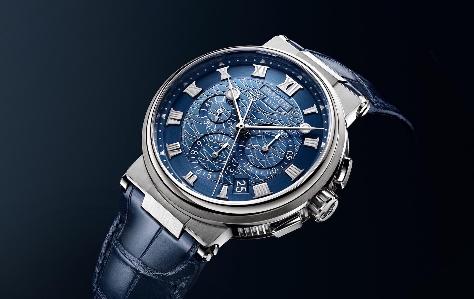 Breguet en Baselworld 2018 - Marine Chronographe 5527BB