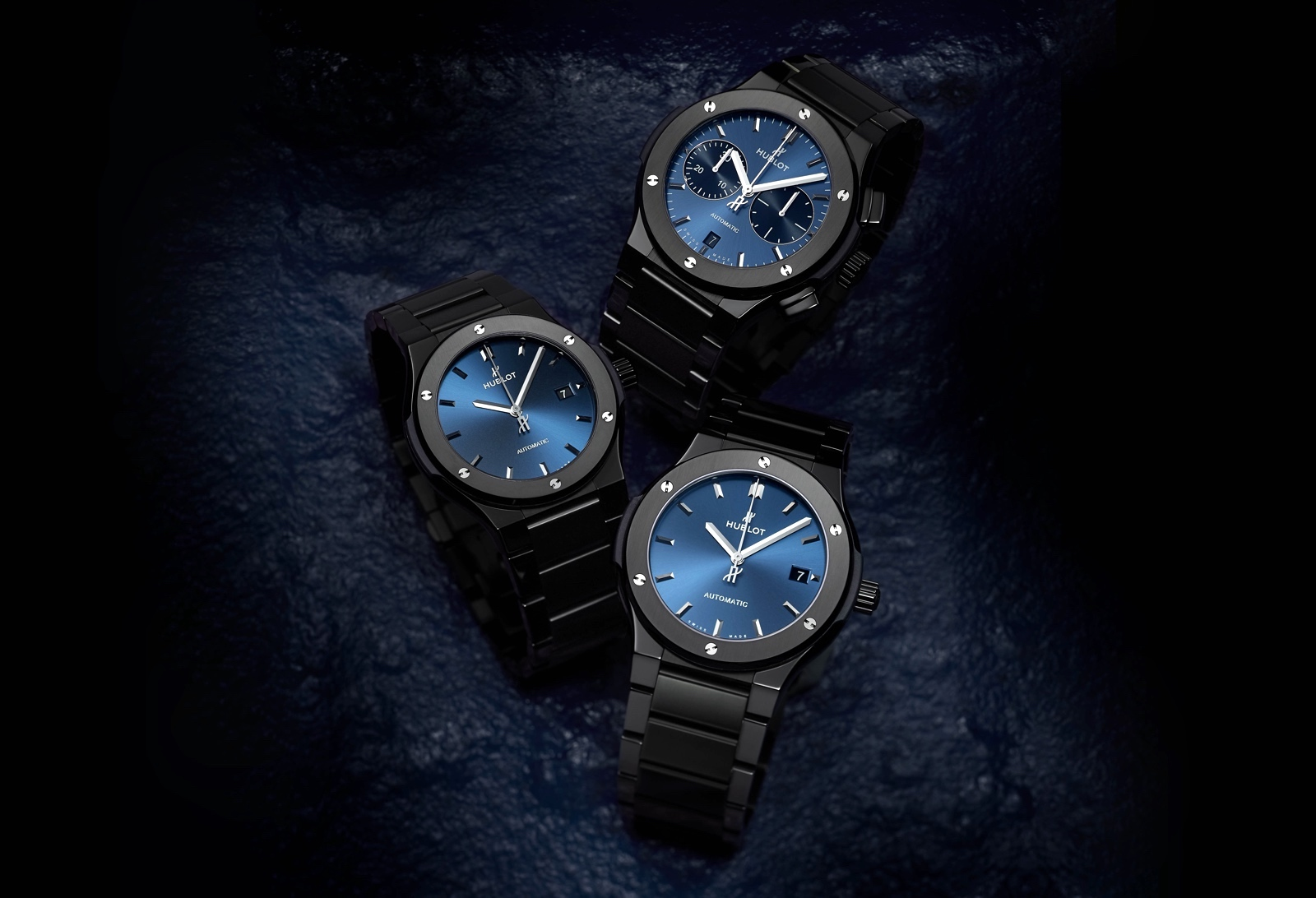 Hublot Classic Fusion All Ceramic - blue trio