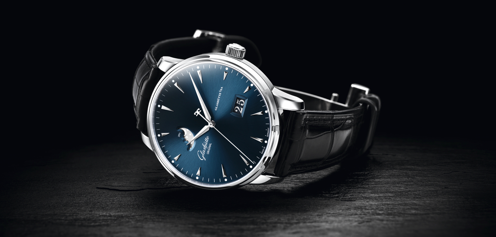 Senator Excellence Panorama Date Moon Phase Blue Cover