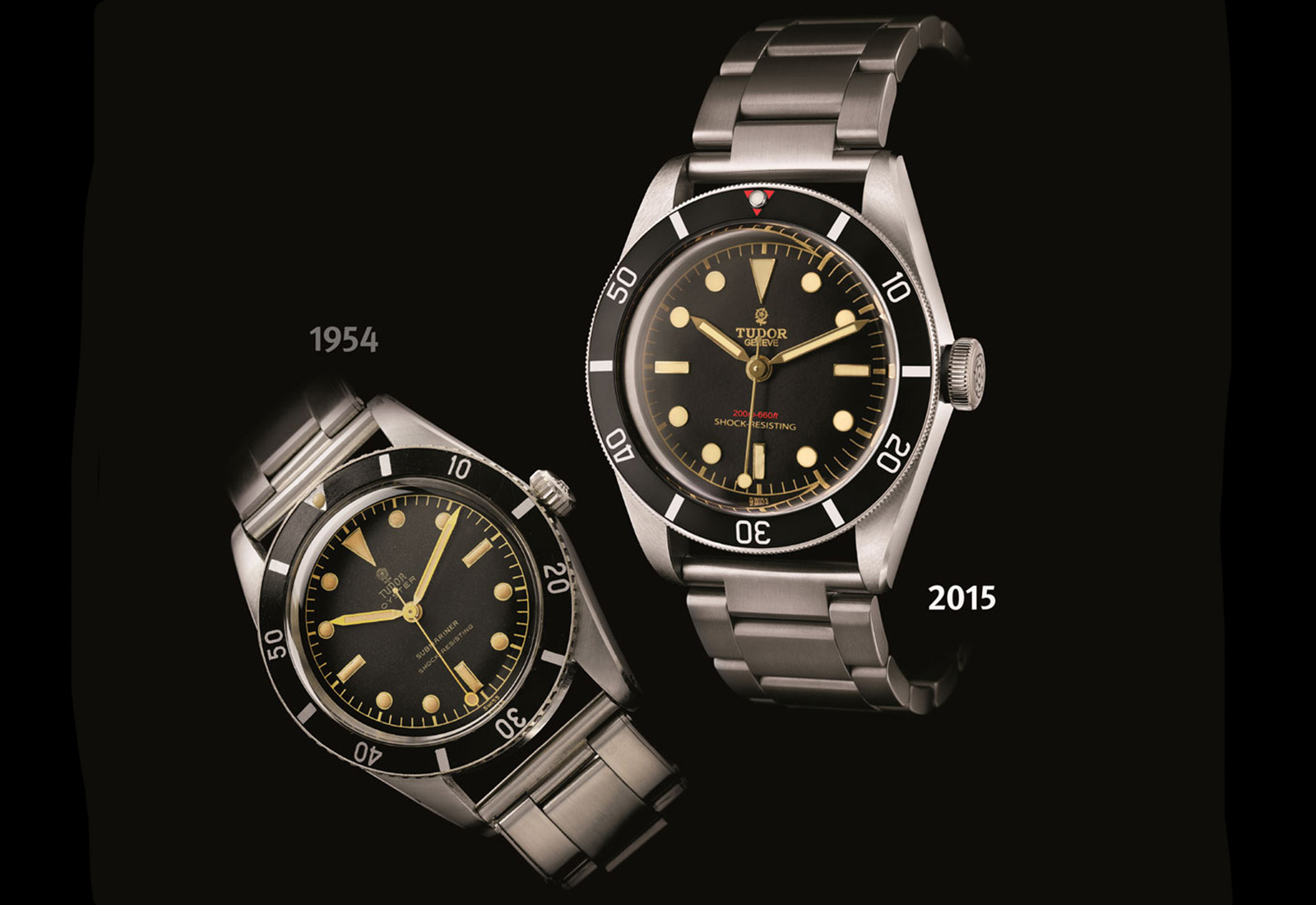 Tudor Submariner 7923 de 1955 vs. Tudor Heritage Black Bay Only Watch 2015