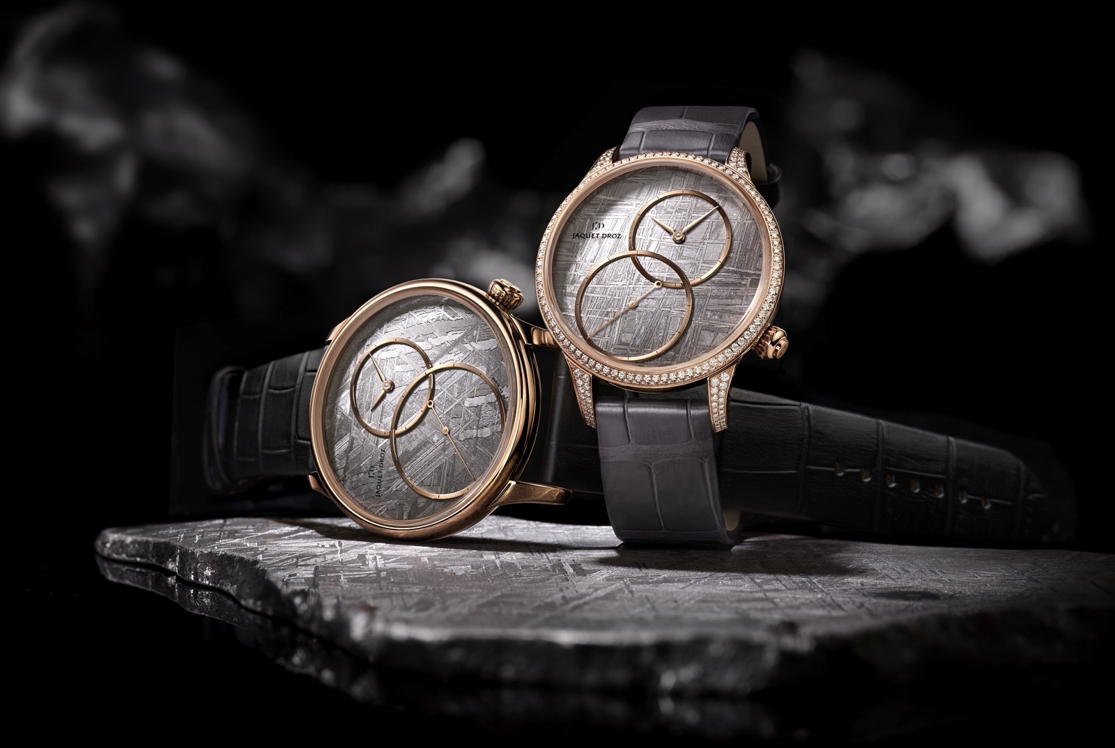 Jaquet Droz Grande Seconde Off-Centered Meteorite