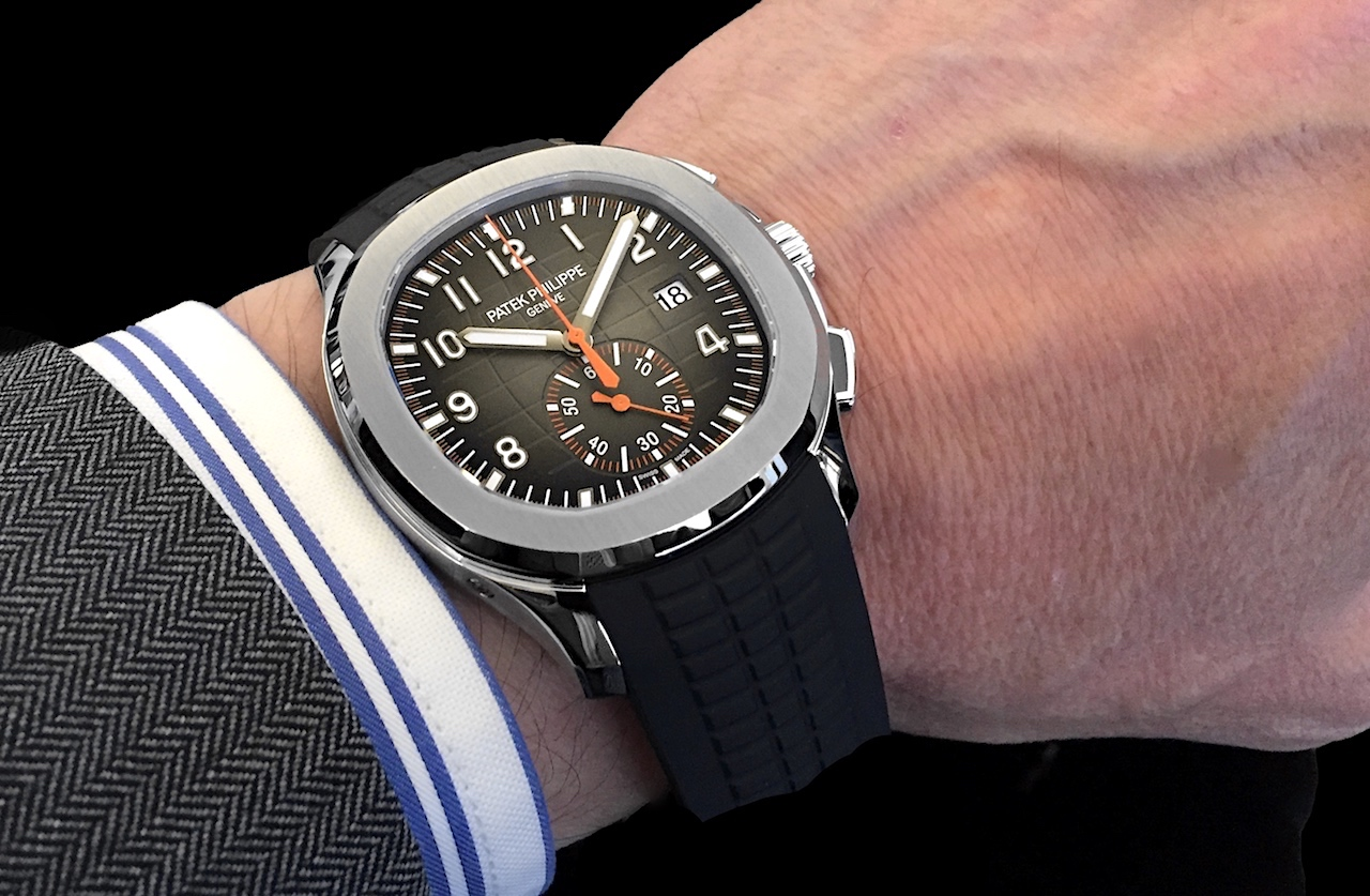 Patek Philippe Aquanaut Chronograph 5968A - ergonomía