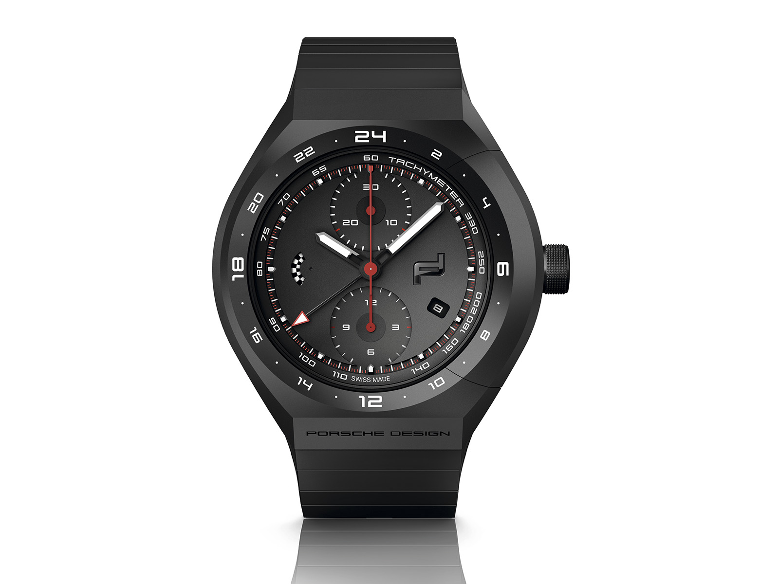 Porsche Design Monobloc Actuator 24H - Chronotimer All Black