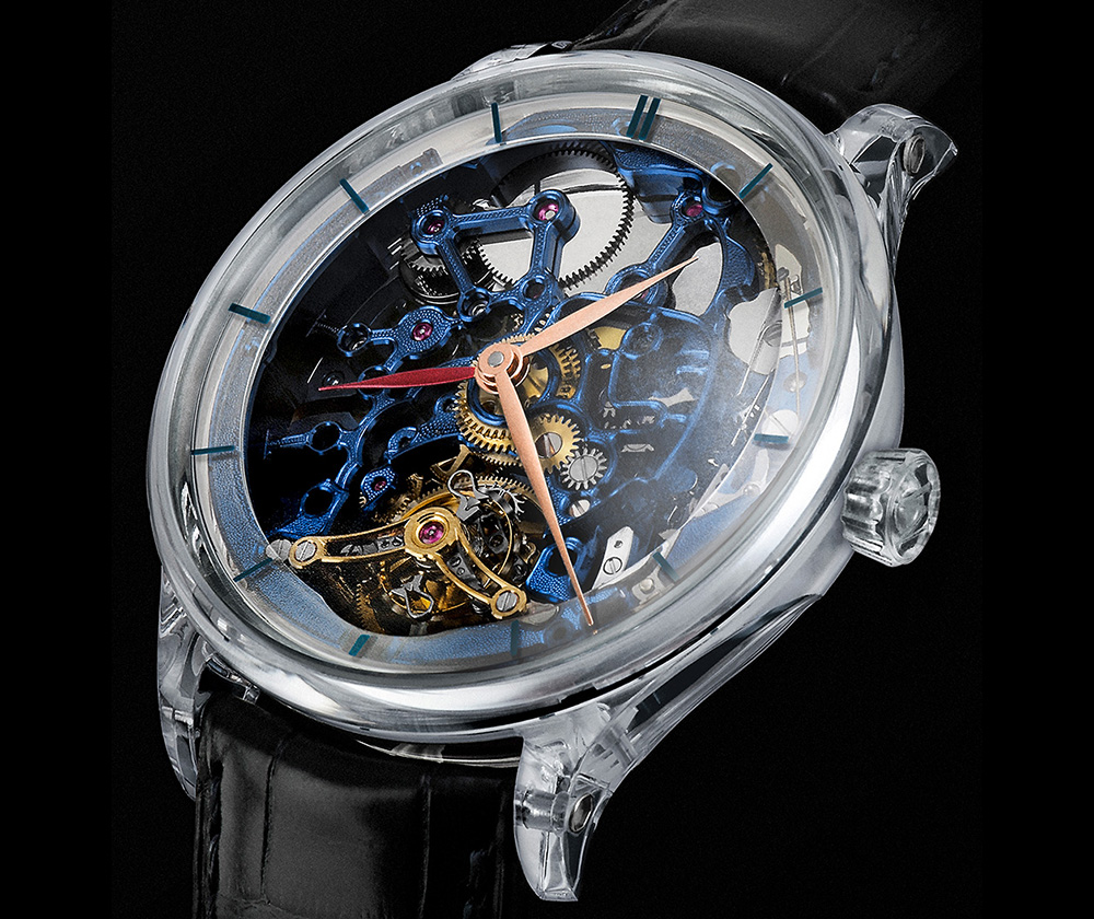 H. Moser & CIe. Venturer Tourbillon Dual Time Sapphire Blue Skeleton