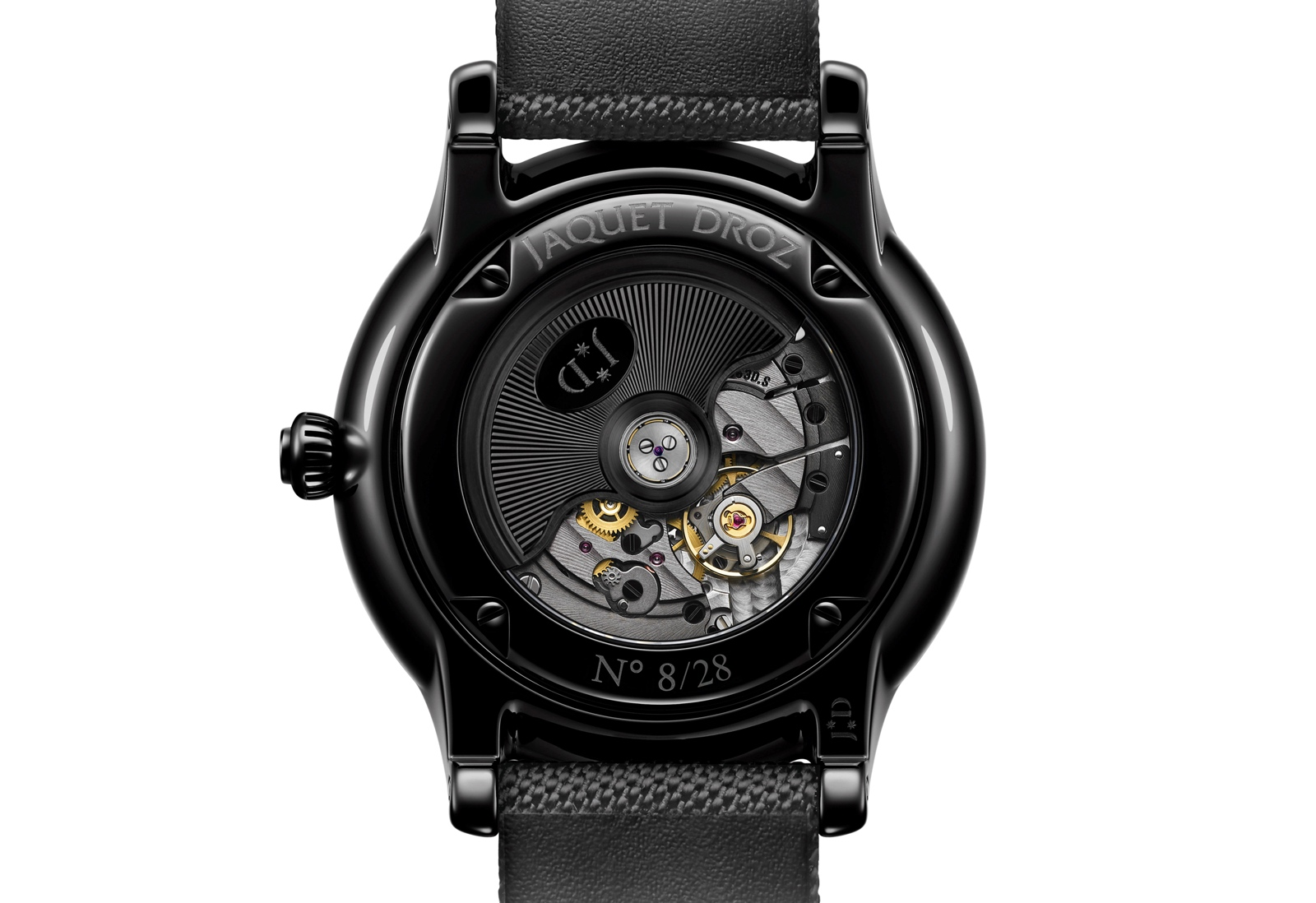 Jaquet Droz Grande Seconde Power Reserve Ceramic Clous de Paris - dos