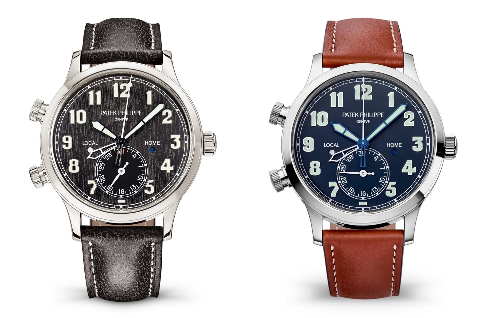 Patek Philippe Calatrava Pilot Travel Time 5524T vs 5524G