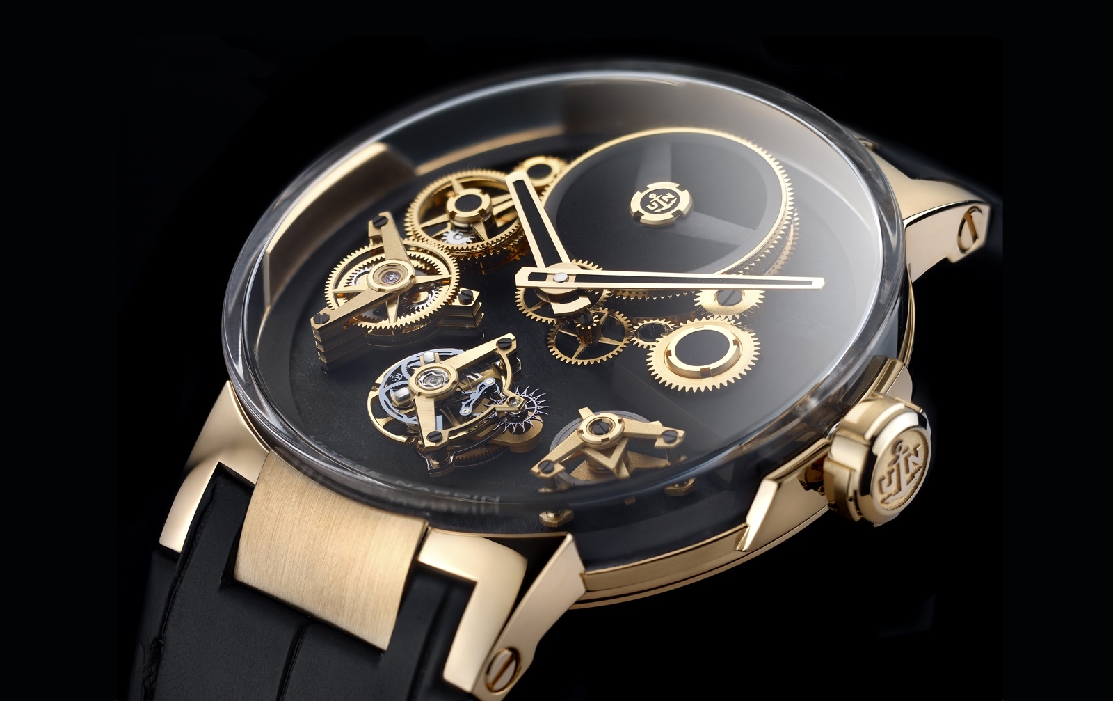 Ulysse Nardin Executive Tourbillon Free Wheel - dial