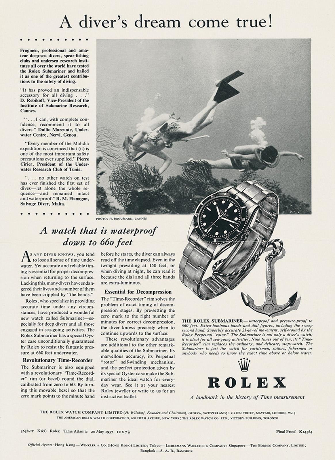 publicidad-Rolex-Submariner-año-1953