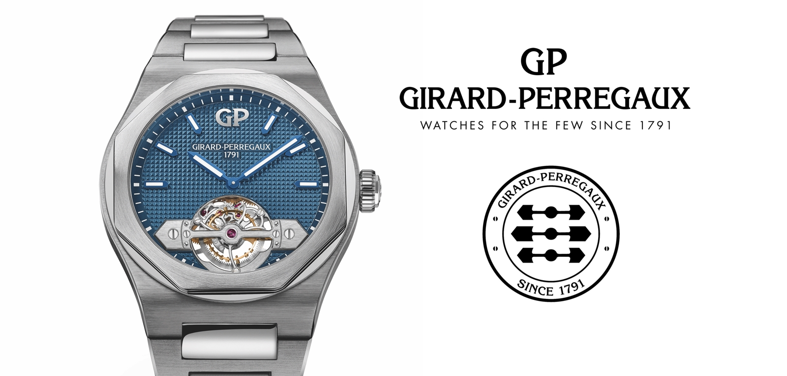 Girard-Perregaux Laureato Tourbillon, ahora en caja de titanio de 43 mm.