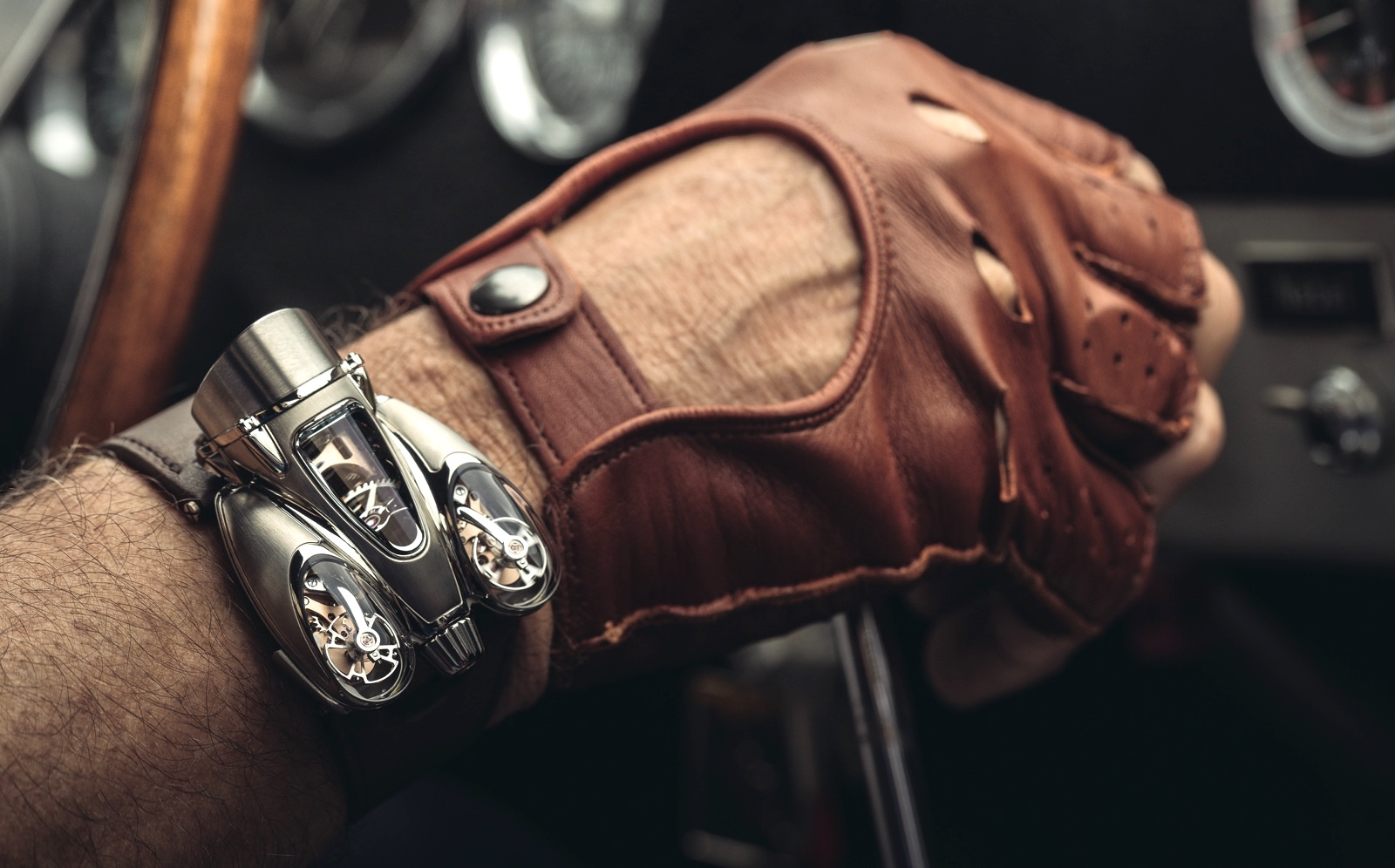 MB&F HM9 Flow Road Wrist Shot