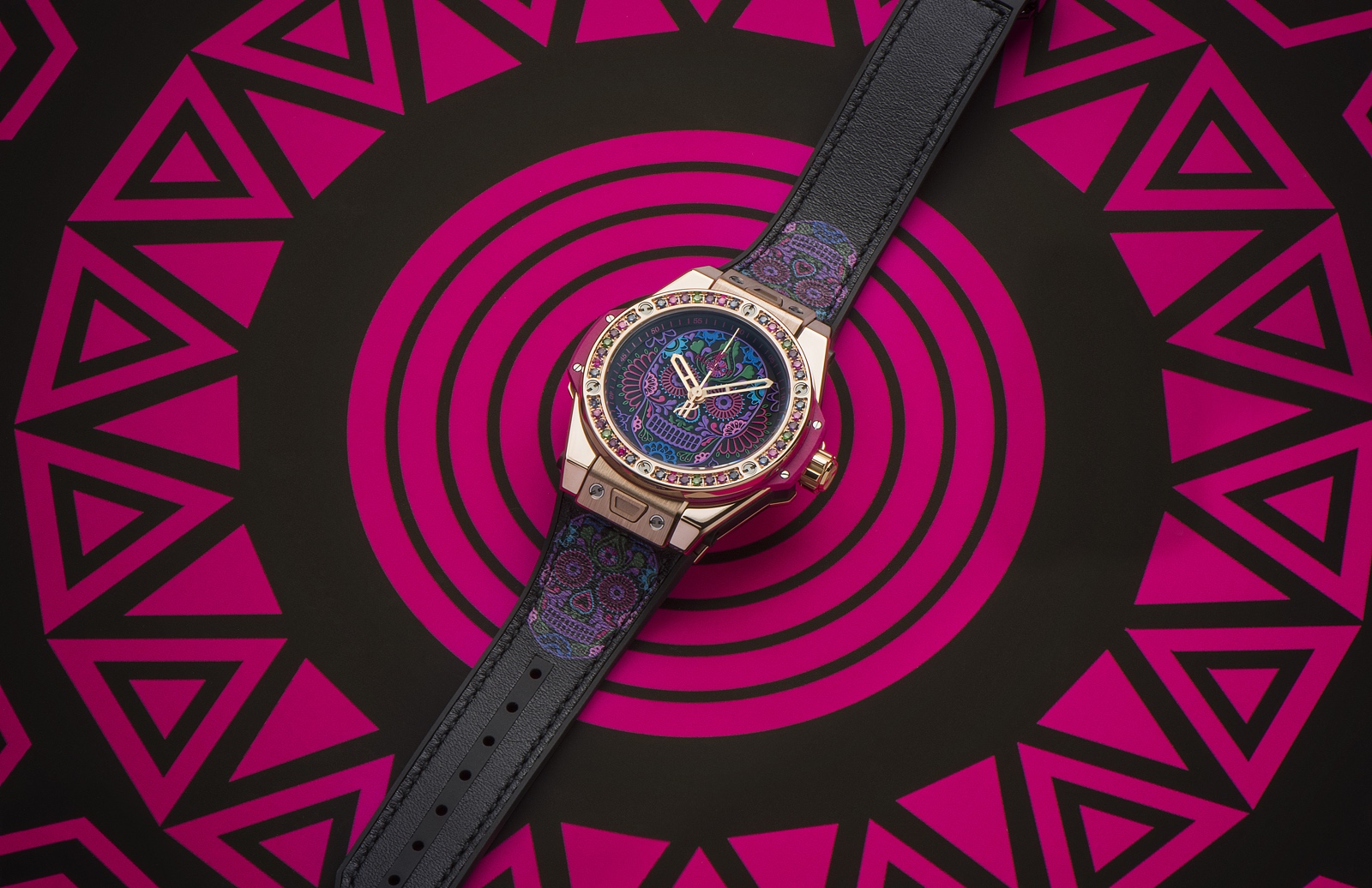 Hublot Big Bang One Click Calavera Catrina - gold