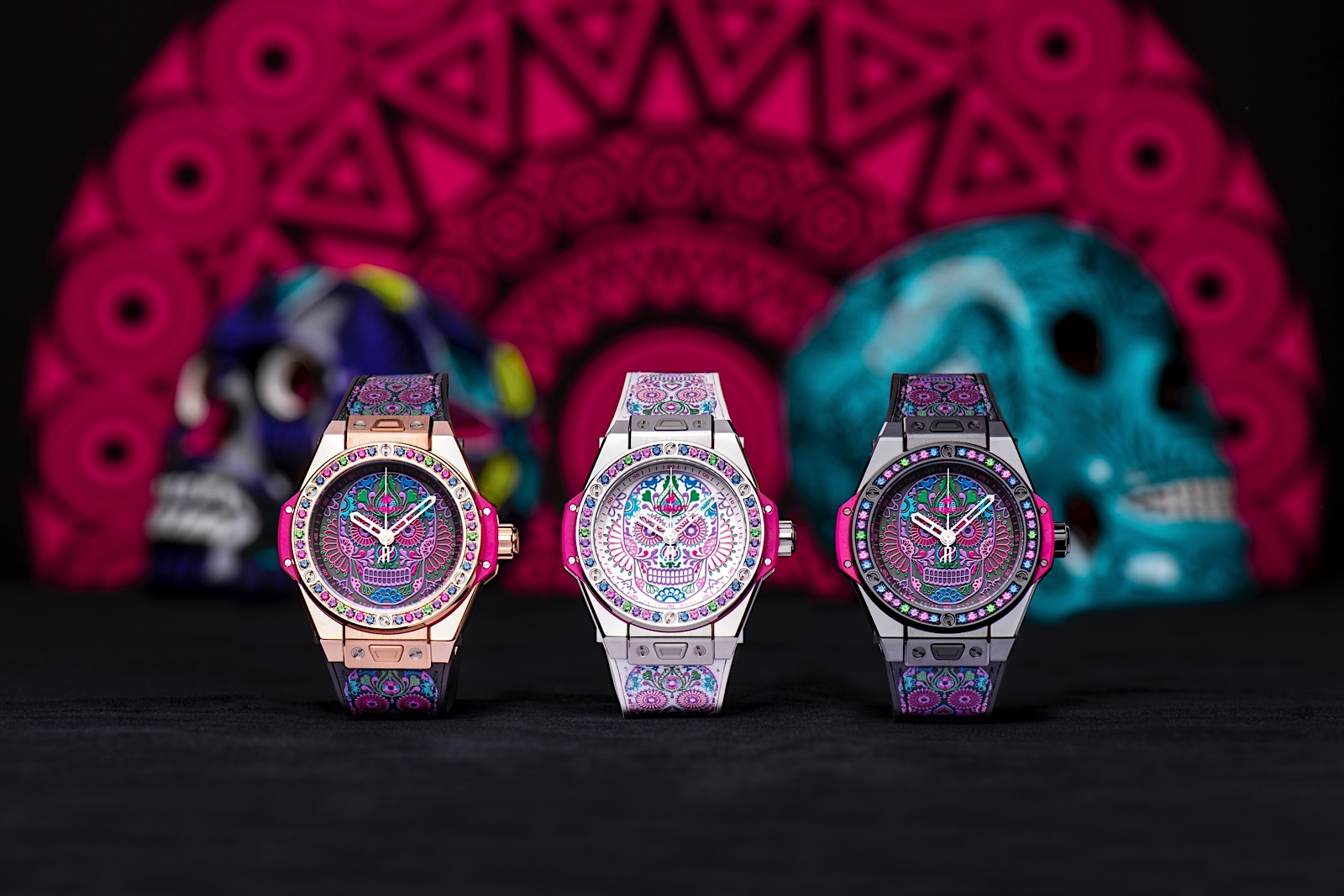 Hublot Big Bang One Click Calavera Catrina - trio