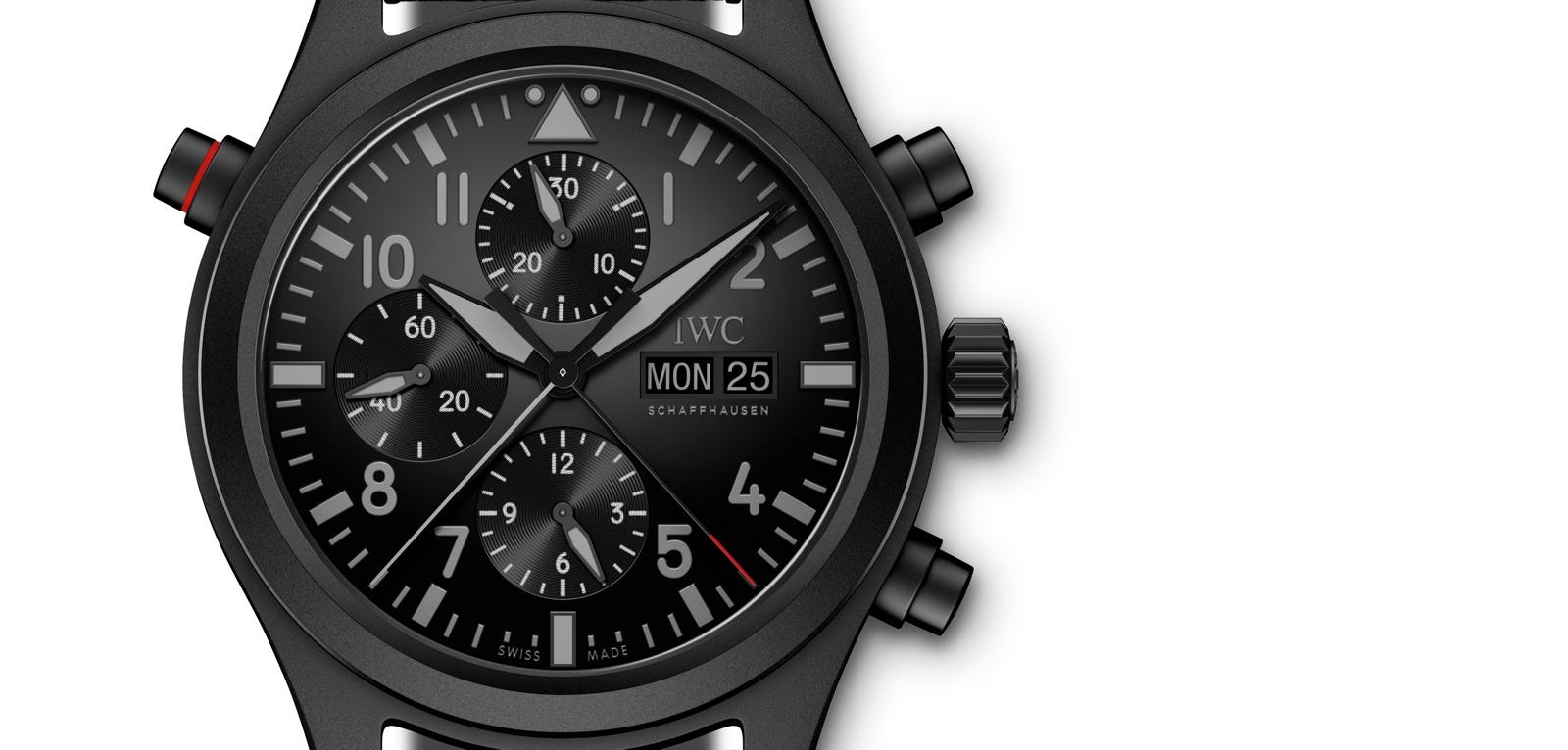 preSIHH 2019. IWC Reloj de Aviador Doble Cronógrafo Top Gun Ceratanium.