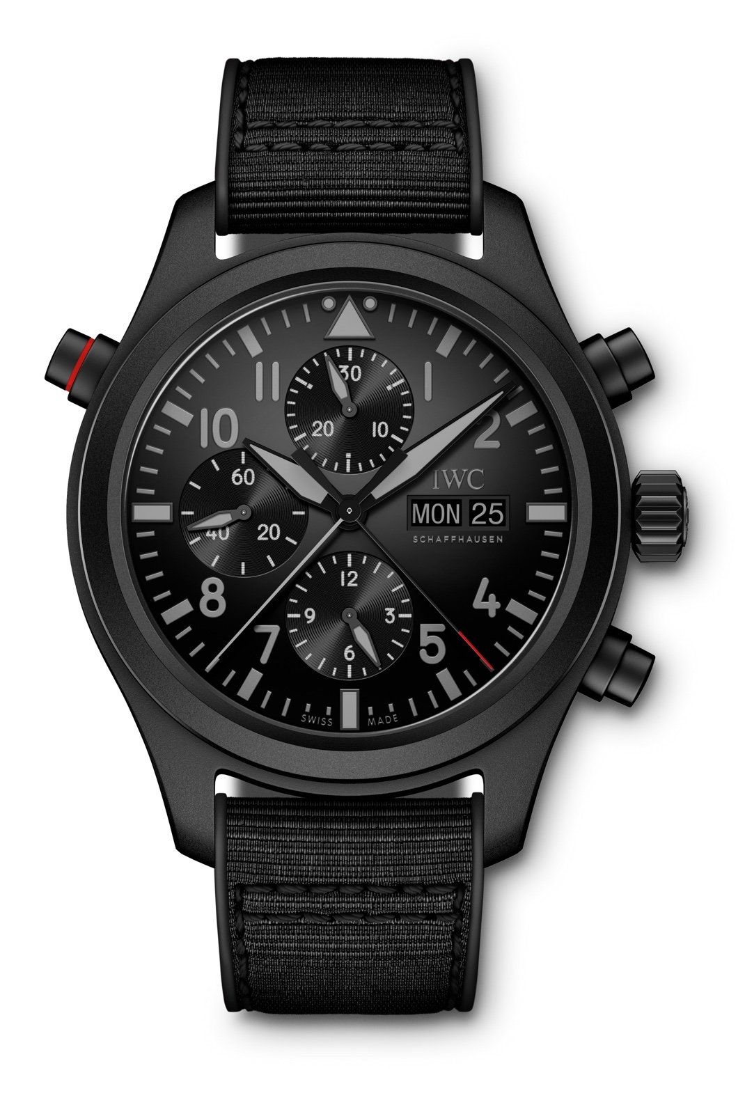 IWC-Pilots-Watch-Doble-Cronógrafo-Top-Gun-Ceratanium-Front