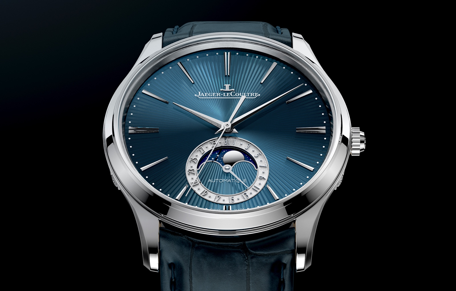 Jaeger LeCoultre Master Ultra Thin Moon Enamel - front