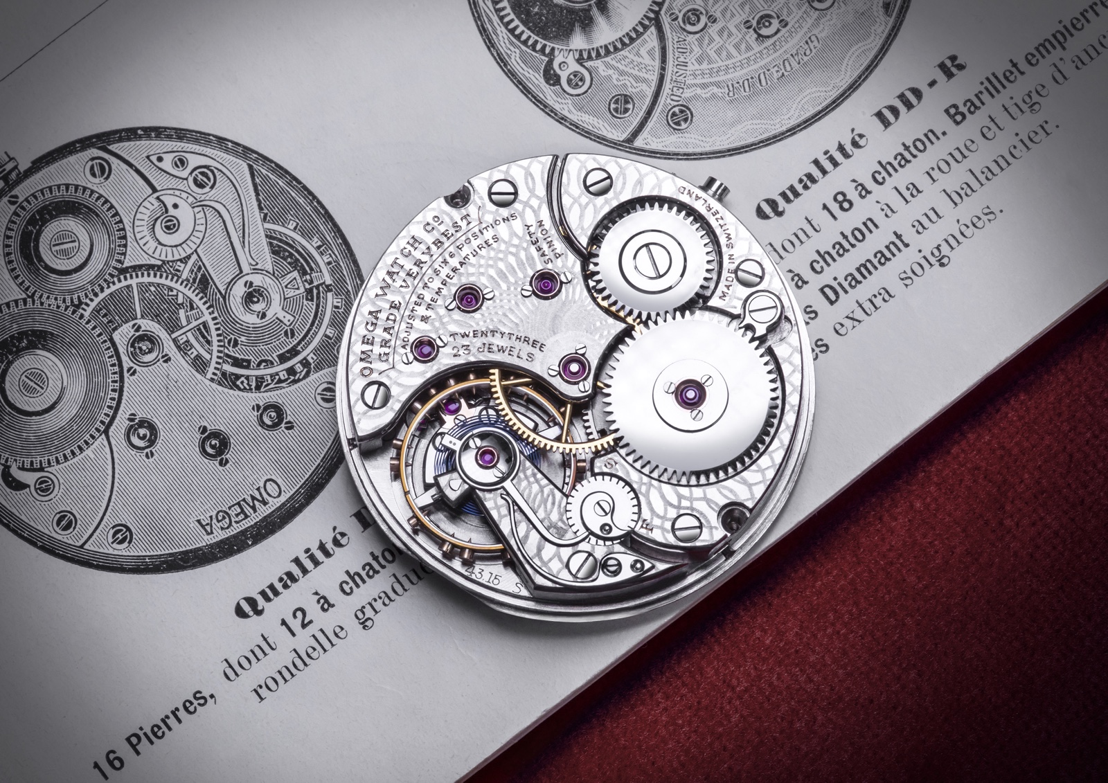 Calibre Omega 125 Aniversario Movimiento Decorado