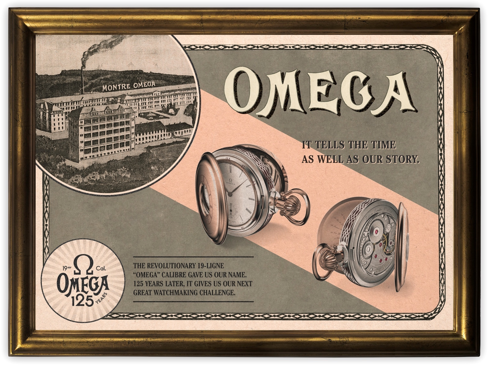 Calibre Omega 125 Aniversario Pocket Watch