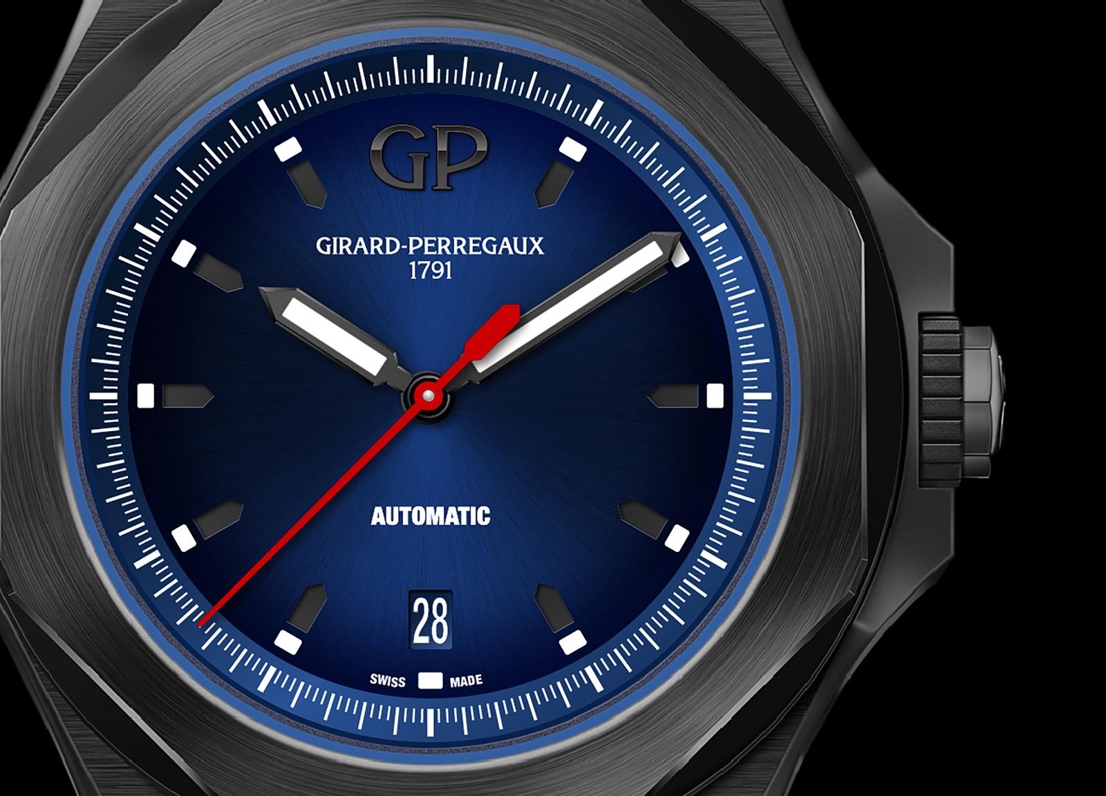 Girard-Perregaux Laureato Absolute Automatic Detalle Esfera