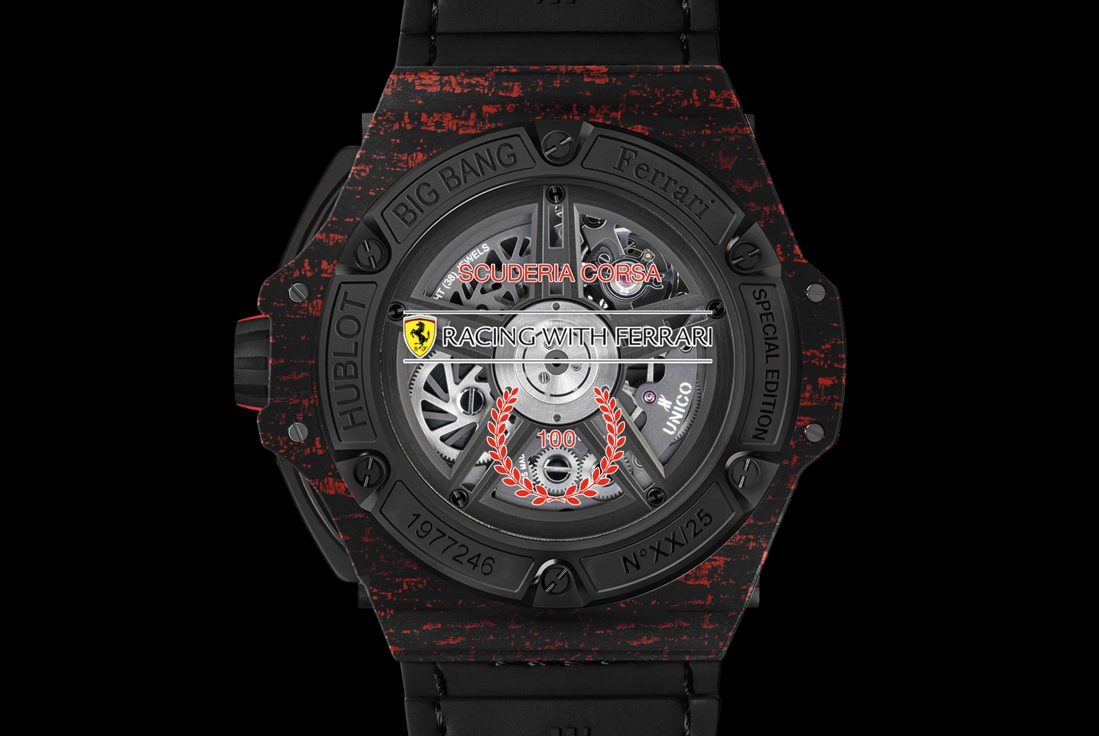 Hublot Big Bang Ferrari Scuderia Corsa - back
