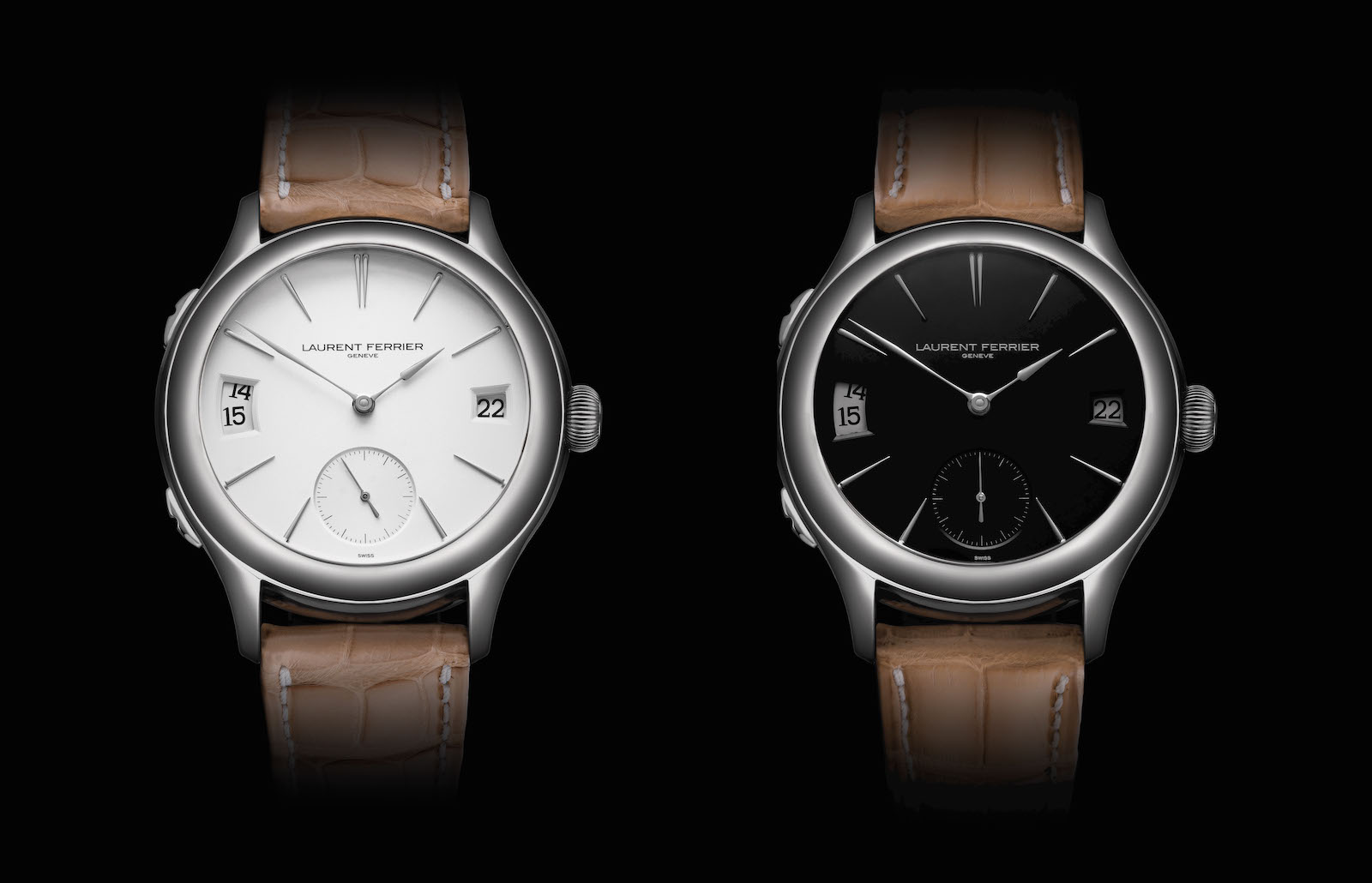 Laurent Ferrier en el SIHH 2019 - Galet Traveller Opaline Black