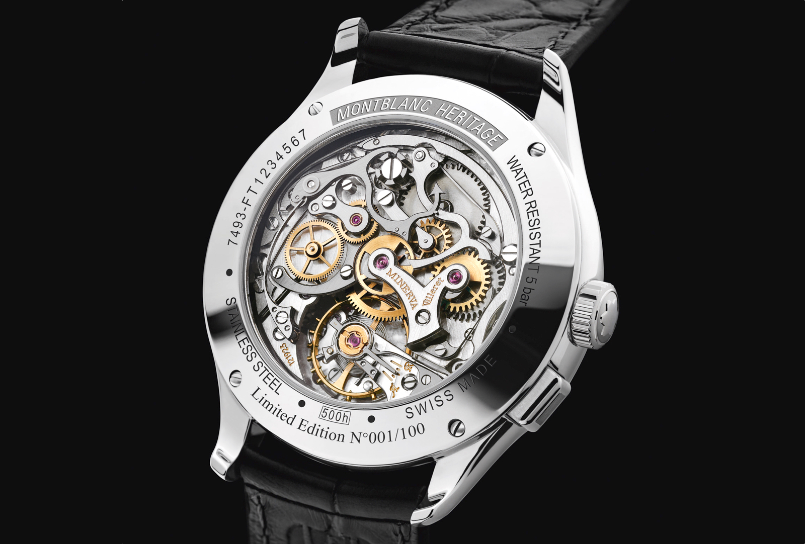 Montblanc Heritage Manufacture Pulsograph Caseback SIHH 2019