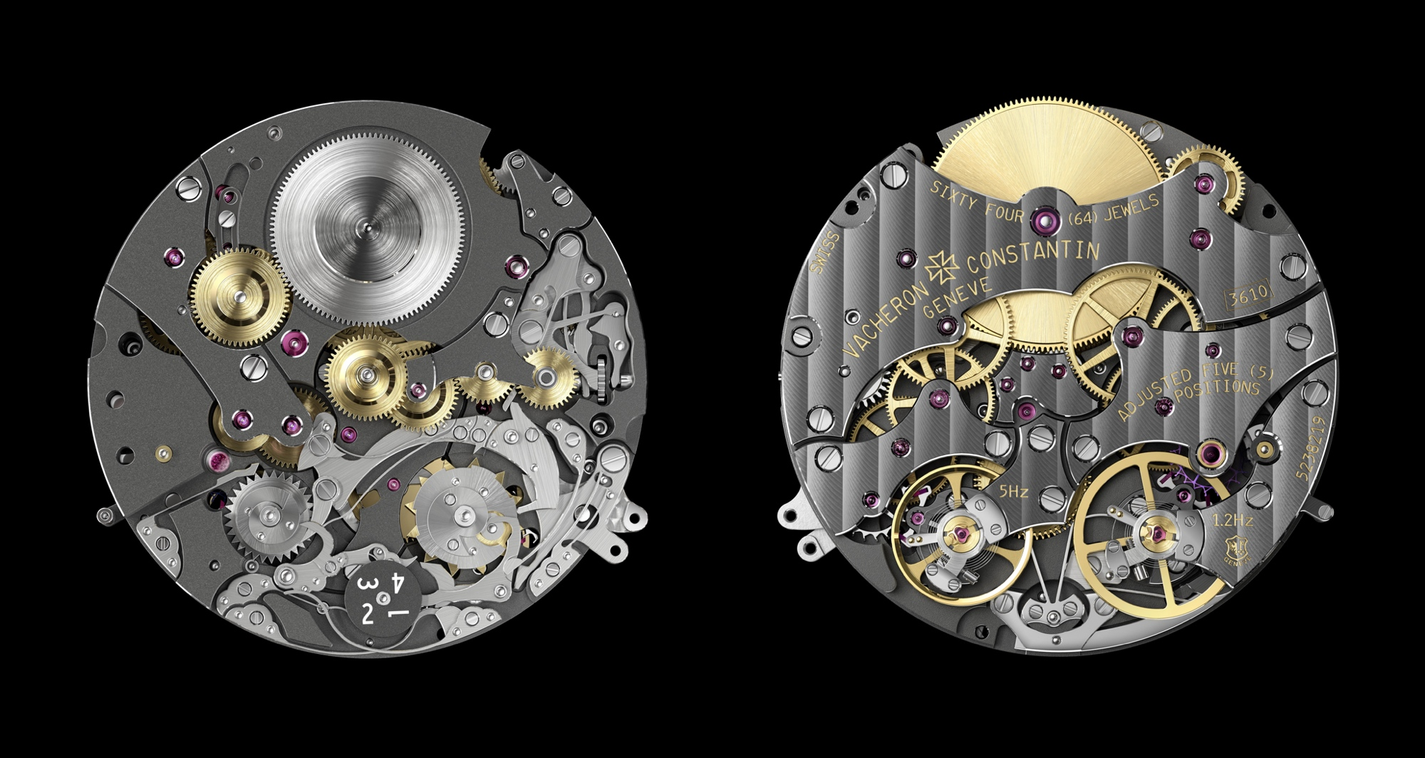 Vacheron Constantin Traditionnelle Twin Beat Perpetual Calendar - calibre 3610 front-back