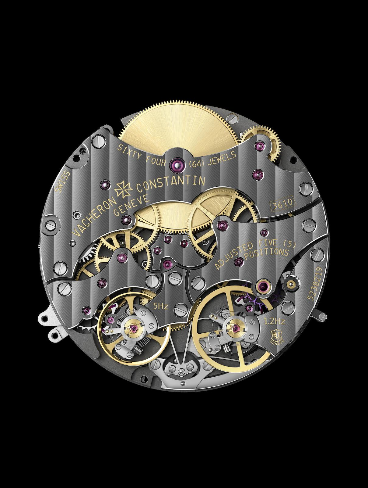 Vacheron Constantin Traditionnelle Twin Beat Perpetual Calendar - calibre 3610 reverso