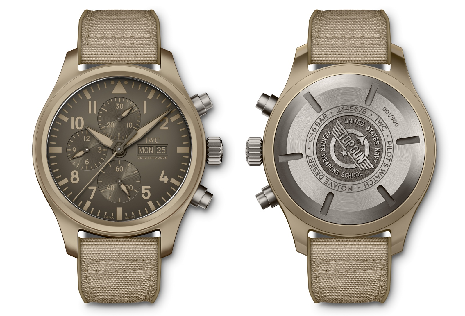 IWC Top Gun Chronograph Edition Mojave Desert Back-Front