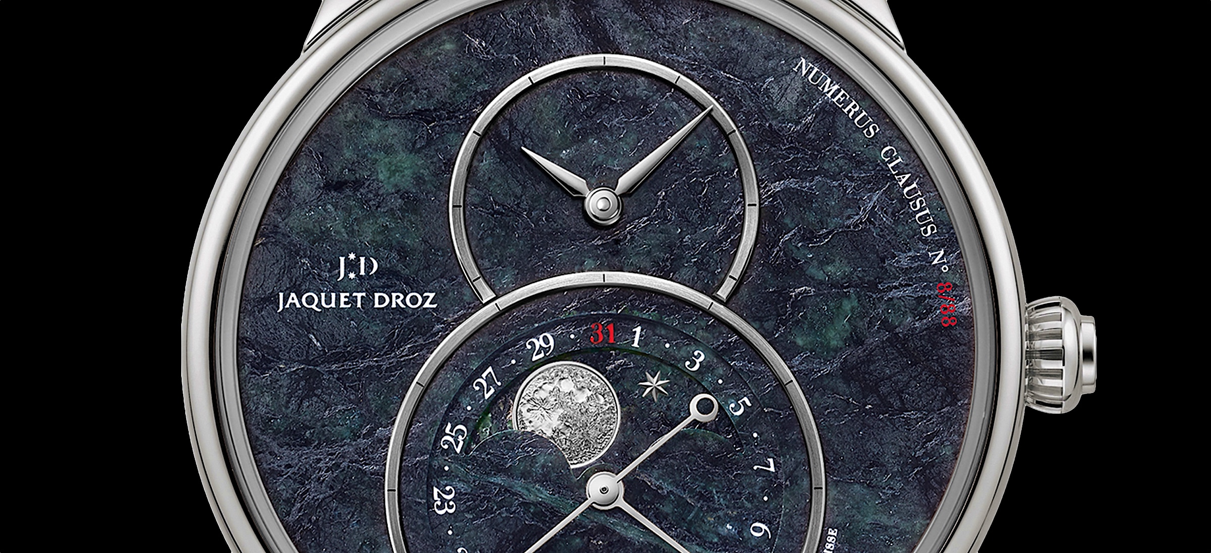 Jaquet Droz Grande Seconde Moon Swiss Serpentinite -cover