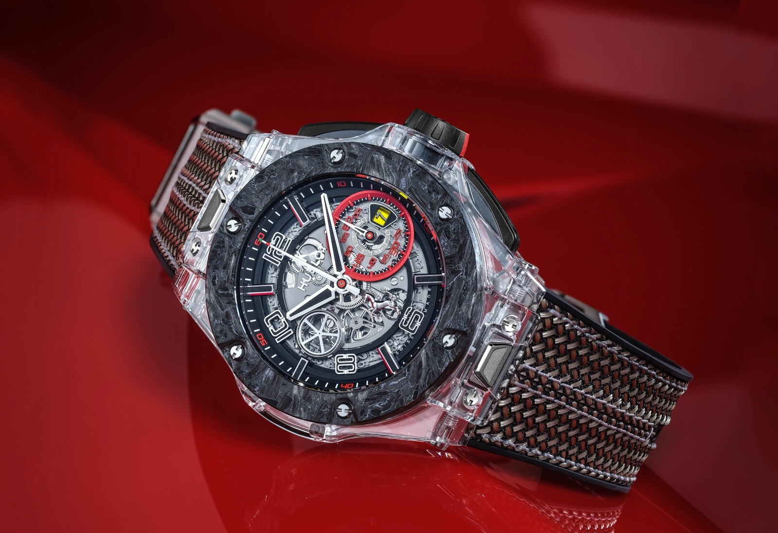 Hublot en Baselworld 2019 - Big Bang Scuderia Ferrari 90th Anniversary saphire
