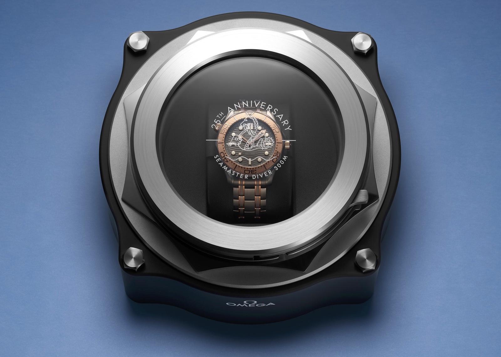 Omega Seamaster Diver 300M Titanium Tantalum Presentación