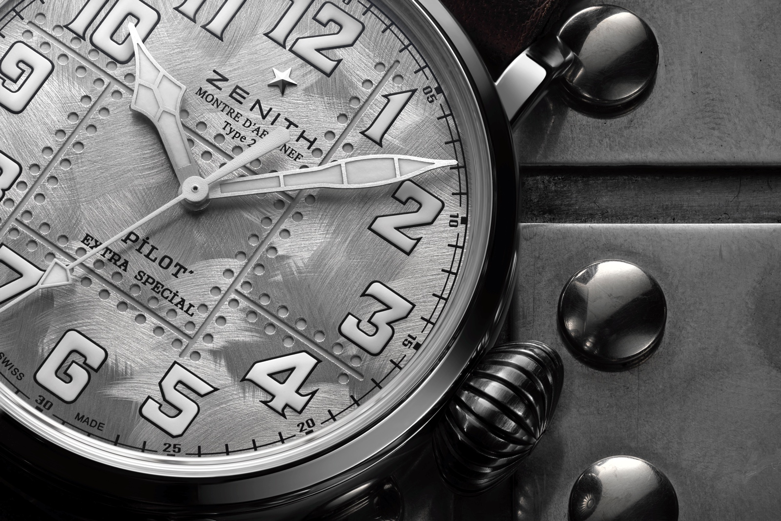 Zenith Pilot Type 20 Extra Special Silver - dial