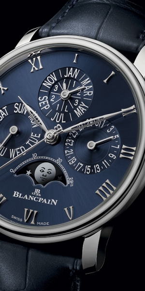 Blancpain Villeret Quantième Perpétuel, ahora en platino y azul