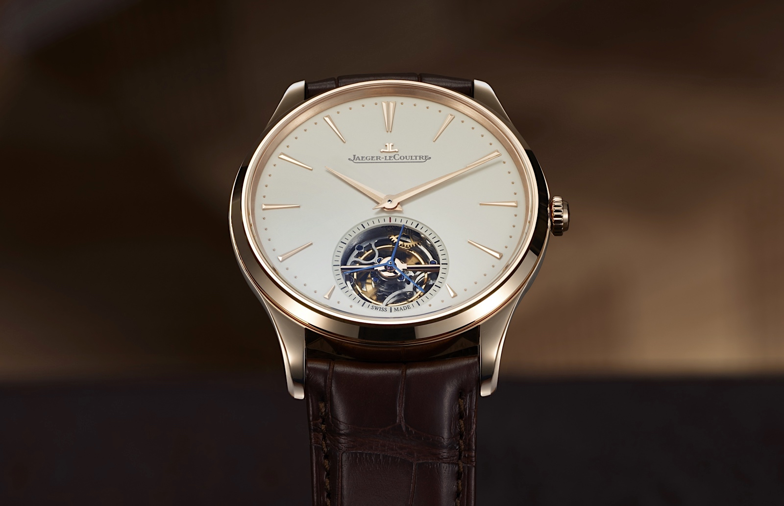 Jaeger-LeCoultre Master Ultra Thin Tourbillon Pink Gold - front