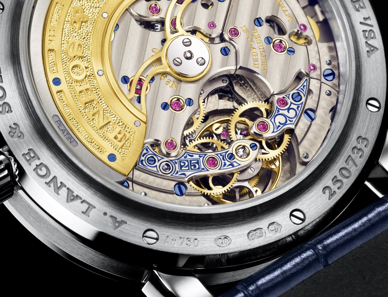Lange 1 Tourbillon Perpetual Calendar 25th Anniversary Edition Detail