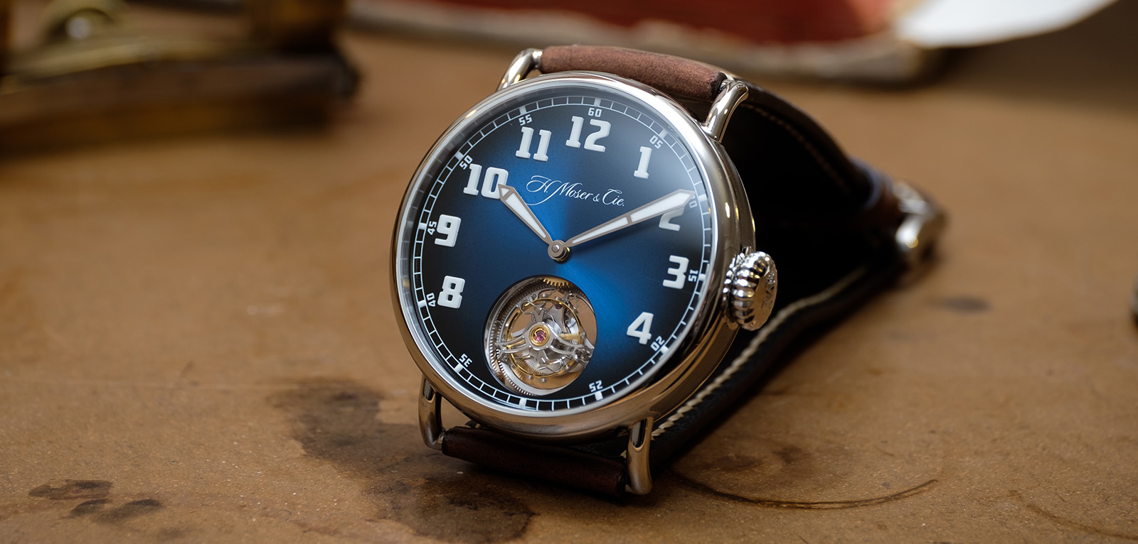 H. Moser & Cie. Heritage Tourbillon Funky Blue