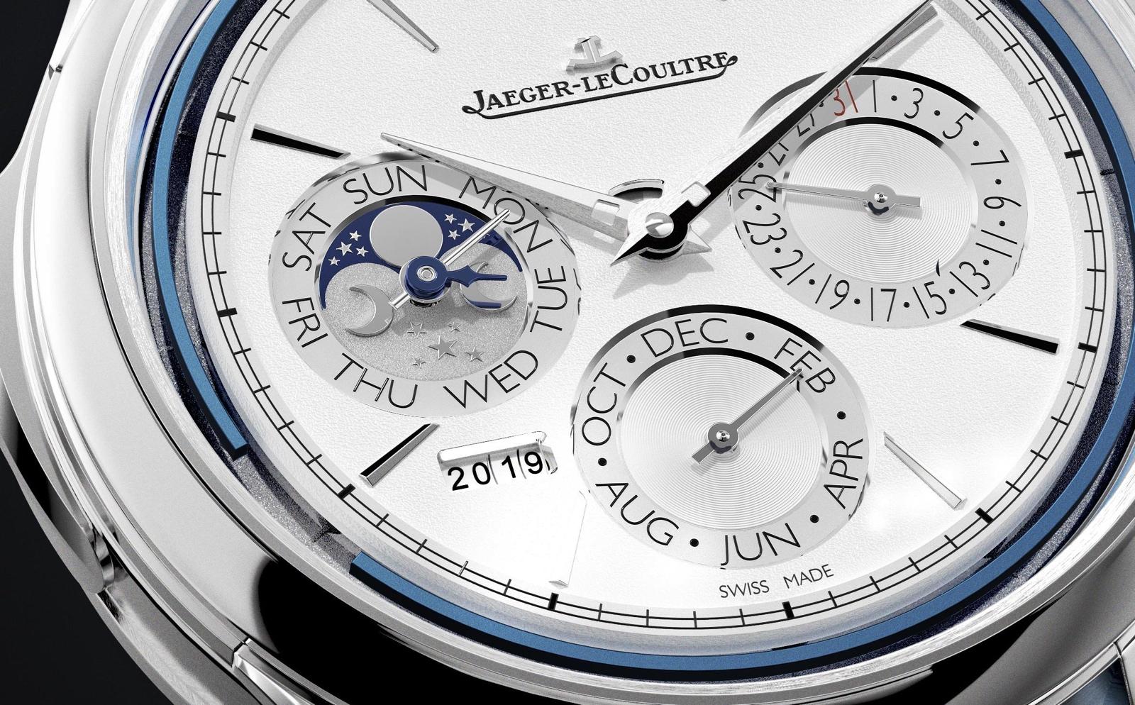 Jaeger-LeCoultre Master Grande Tradition Répétition Minutes Perpétuelle - detalle esfera blanca